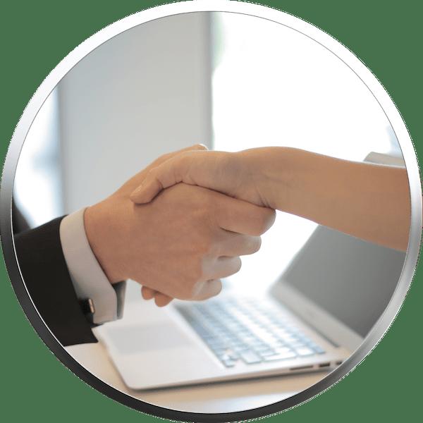 Qaulifizierte und transparente Beratung der betrieblichen Altersversorgung - Hand drauf